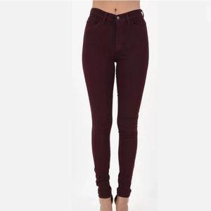 KANCAN Burgundy Stretch Skinny Jeans